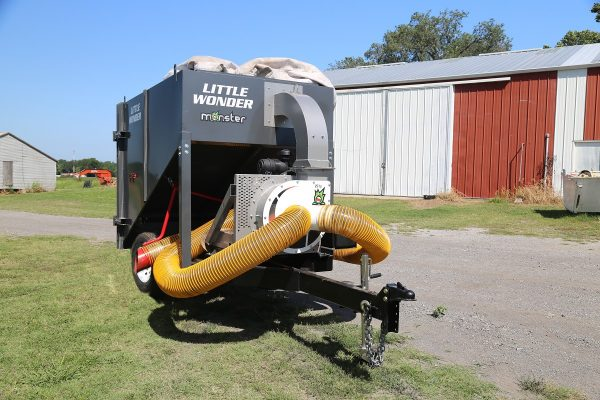 AgVac 5S Agricultural Vacuum in front of barn