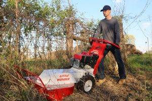 The Little Wonder BRC26 Hydro Brush Cutter features a hydrostatic drive with clutchless variable operating speeds — as fast as 4.2 mph forward and 1.7 mph in reverse — which makes it easy to adapt to changing worksite conditions.